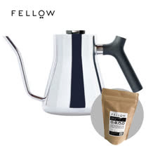 【FELLOW】STAGG 不鏽鋼測溫手沖細口壺 v1.2 (亮面) 送 120g 咖啡豆  衣索比亞 水洗 耶加雪菲 科契爾 (市售價$250)