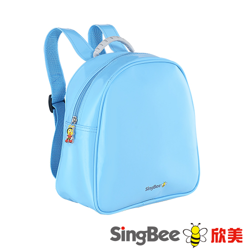 SingBee欣美 閃亮輕巧書包 ^(粉藍粉紅^)