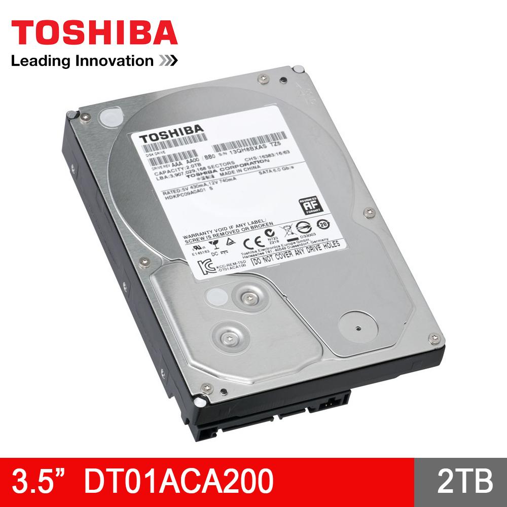 TOSHIBA 東芝 DT01ACA200 2TB 3.5吋 7200轉 SATA3 消費
