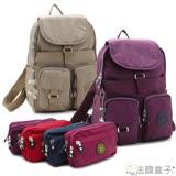 【法國盒子】超實用多口袋後背包限量組(紫色)1501+06(隨機)
