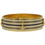 COACH 時尚配件 撞色條紋扣式手環.金 F96767