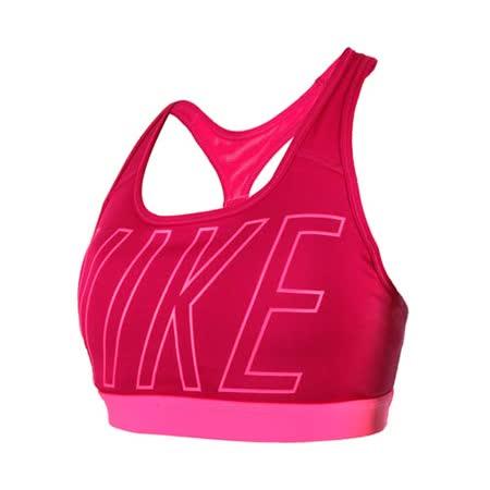 (女) NIKE 緊身服 -運動內衣 慢跑 路跑 有氧 瑜珈 韻律 螢光粉紫