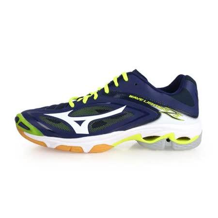 (男) MIZUNO WAVE LIGHTNING Z3 排球鞋-美津濃 深藍螢光黃