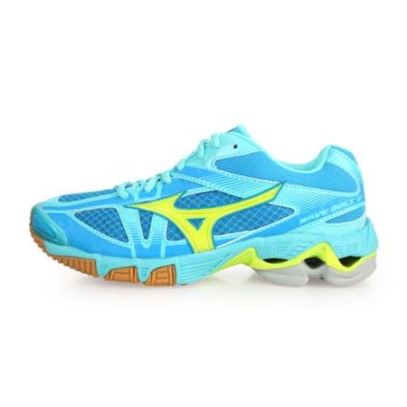 (女) MIZUNO WAVE BOLT 6 排球鞋-  美津濃 淺藍螢光黃