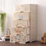 IDEA-QQBear五層DIY玩具衣物收納櫃-附鎖抽屜