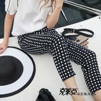 【克萊亞KERAIA】設計感格紋八分褲