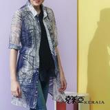【克萊亞KERAIA】棕梠葉襯衫式長版罩衫