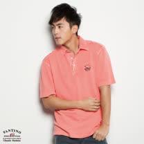 【FANTINO】男裝 水洗防舊設計Supima棉POLO衫(桔)131140