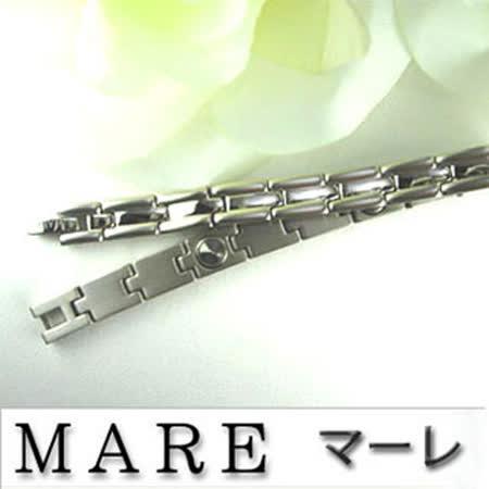 【日本 MARE】至臻完美 銀色 純鈦/鍺手鍊