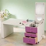 粉彩折疊和室掀鏡化妝書桌-各色