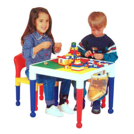 《寶貝家》方形兒童積木桌椅組(圓球腳)送100顆小積木1包~台灣生產喔