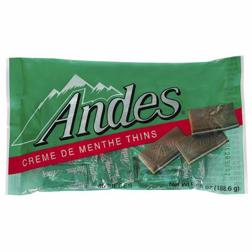 安迪士Andes巧克力薄片~薄荷口味165g