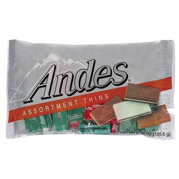 安迪士Andes巧克力薄片-綜合口味165g