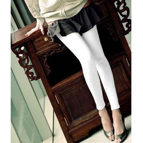 (任選)【性感蕾絲低腰九分褲(白色)】超推百搭款!具修飾效果,打造下半身黃金比例!