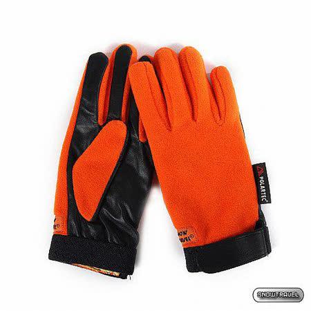 [SNOW TRAVEL] WINDBLOC小羊皮防風保暖手套 (橘色)