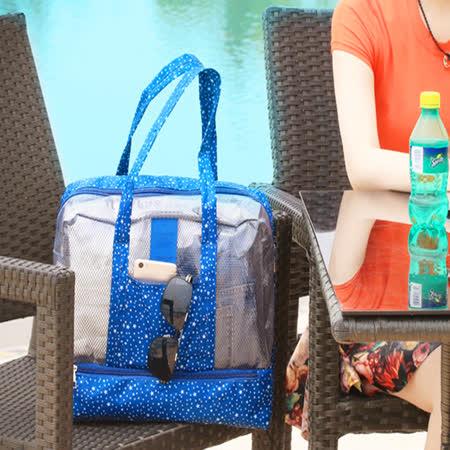 wei-ni 沙灘游泳WeekEight乾濕分離包 乾濕分離收納袋包