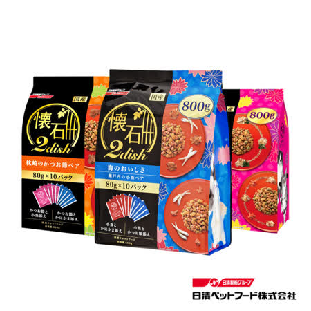 日清 懷石綜合貓糧-瀨戶內 海之味 800g (80g*10入)*3包組(A202D01-1)