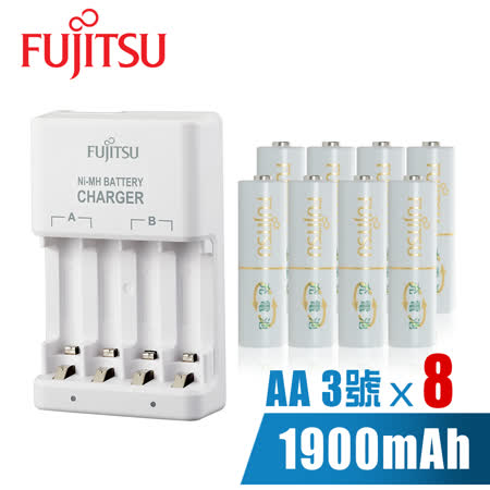 Fujitsu富士通低自放1900mAh充電組(附3號電池8入)