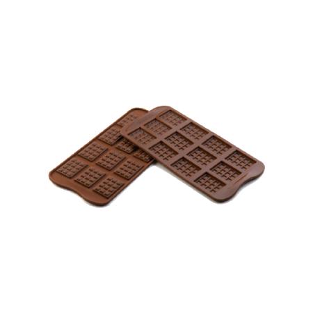 義大利進口《Silikomart》12連磚塊矽膠巧克力模/冰模/22.111.77.0065