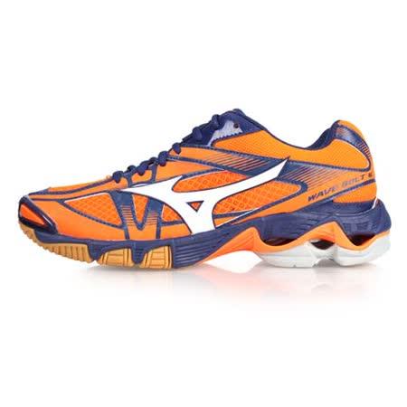 (男) MIZUNO WAVE BOLT 6 排球鞋-美津濃 螢光橘深藍