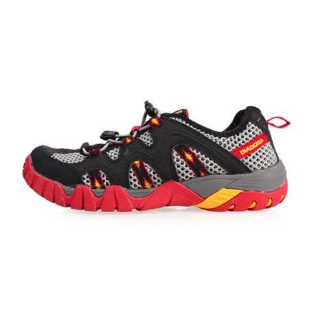 (男) DIADORA 戶外水陸鞋-慢跑 登山 健走 露營 黑灰紅
