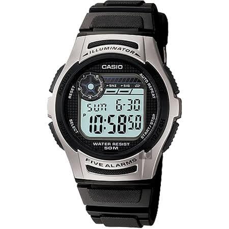 CASIO 卡西歐 DIGITAL 10年電力系列電子錶-黑 W-213-1AVDF