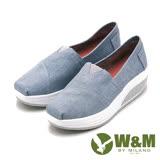 W&M BOUNCE厚底增高休閒鞋 女鞋-米(另有黑、藍)