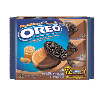 奧利奧花生醬&巧克力口味夾心餅