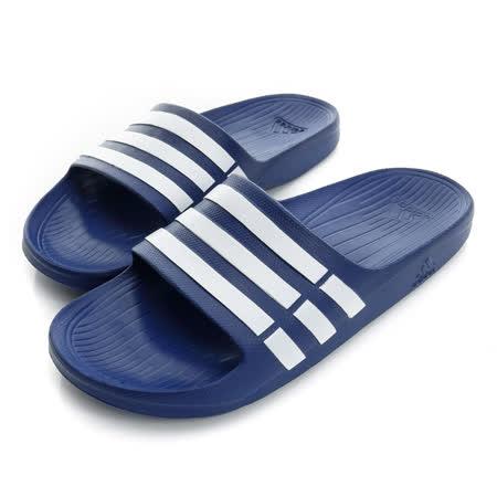 ADIDAS 男女鞋 拖鞋 藍色 DURAMO SLIDE - G14309