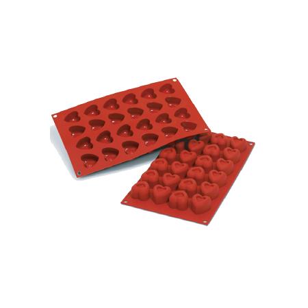 義大利進口《Silikomart》24連空心心型矽膠模/冰模/巧克力模/30.089.00.0060