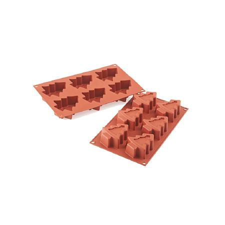 義大利進口《Silikomart》6連聖誕樹模/矽膠模/冰模/巧克力模/36.202.00.0060