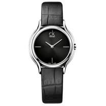 瑞士 Calvin Klein 甜蜜銀框皮革女腕錶 (K2U231C1)