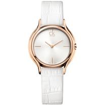 瑞士 Calvin Klein 甜蜜玫瑰金皮革女腕錶 (K2U236K6)