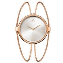 瑞士 Calvin Klein 浪漫鋼索手環式玫瑰金手錶 (K2Z2S616)