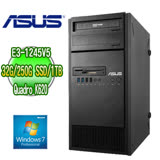 ASUS 華碩 ESC500 G4 四核繪圖工作站 ( E3-1245v5 32G M.2 250GB SSD+1TB Nvidia K620繪圖卡 WIN7專業版)