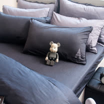OLIVIA 《 NELSON 》 加大雙人床包枕套三件組 設計師原創系列 工業風格