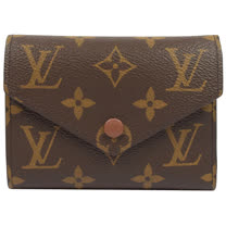 Louis Vuitton LV M62472 Victorine 經典花紋信用卡簡式短夾 現貨