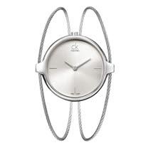 瑞士 Calvin Klein 浪漫鋼索手環式銀手錶 (K2Z2S116)