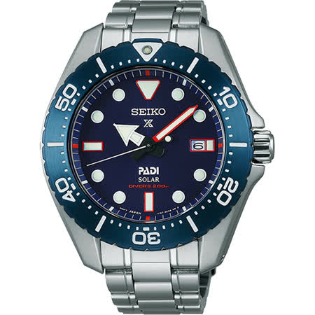 SEIKO Prospex PADI 聯名限量太陽能鈦潛水錶-藍/43mm V157-0BS0B(SBDJ015J)
