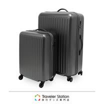 《Traveler Station》 C-F1302 Super Light 拉桿箱套組 27吋+19吋登機箱 鐵灰