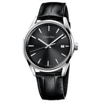 瑞士 Calvin Klein 時尚耀眼皮革紳士錶 (K4M211C3)