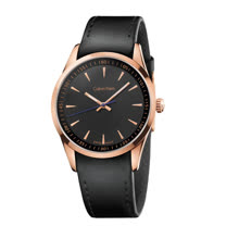 瑞士 Calvin Klein 時尚玫瑰金錶殼紳士錶 (K5A316C1)