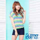 【SUMMERLOVE 夏之戀】大女長版三件式泳衣S17716