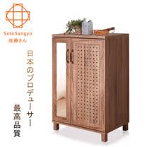 【Sato】DRIFT時間蹤跡雙門鏡面鞋櫃-幅58cm