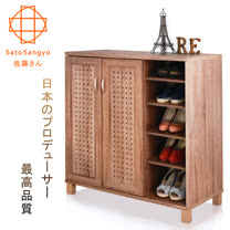 【Sato】DRIFT時間蹤跡雙門五格鞋櫃-幅87cm