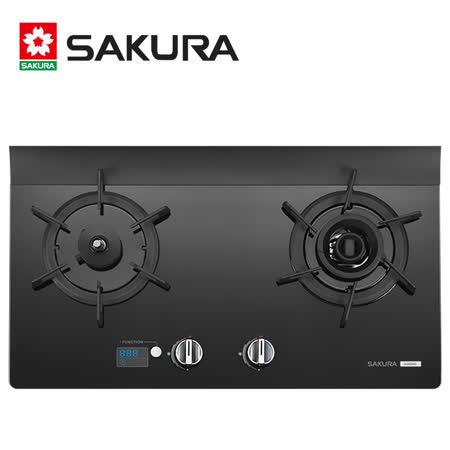 SAKURA櫻花 智能雙炫火二口玻璃檯面爐 G-2926GB/G-2926 桶裝然瓦斯 送安裝+高級鍋具組