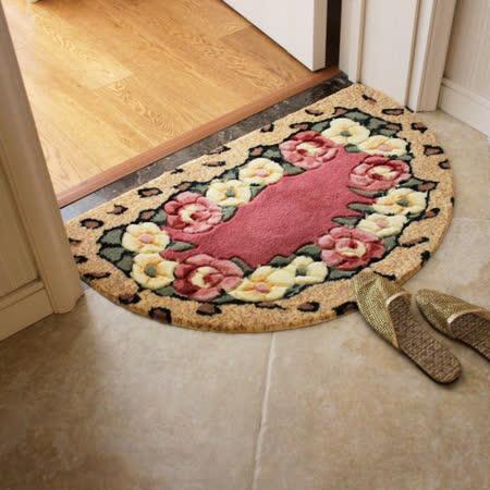 【Chic Casa】露西亞玫瑰半圓地毯 大 48x78cm