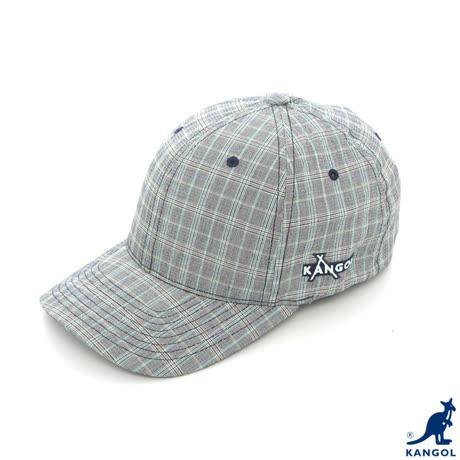 Kangol 棒球帽-灰格子色S-M