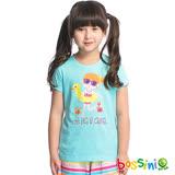 bossini女童-印花短袖T恤26藍綠(品特)