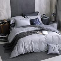 OLIVIA 《 羅蘭德 》 加大雙人兩用被套床包四件組 棉天絲系列 全程台灣生產製作